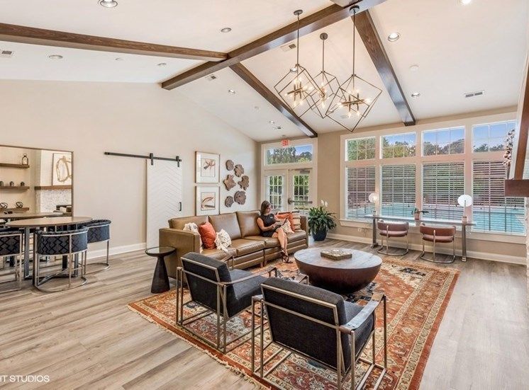 Large Clubhouse With Ample Sitting at Brittany Commons Apartments, Virginia